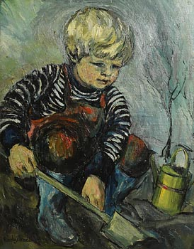 Gladys MacCabe, The Little Gardener at Morgan O'Driscoll Art Auctions