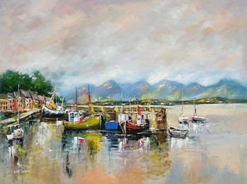 Niall Campion, Roundstone Harbour, Connemara at Morgan O'Driscoll Art Auctions
