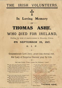 The Irish Volunteers, Thomas Ashe Memorial Card at Morgan O'Driscoll Art Auctions