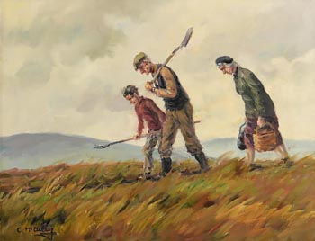 Charles J. McAuley, The Turf is Cut, Home Awaits (1985) at Morgan O'Driscoll Art Auctions