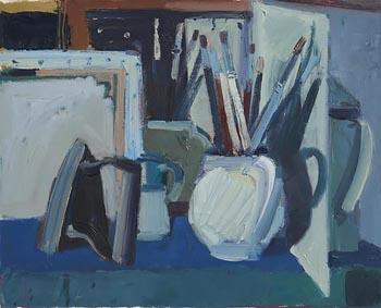 Brian Ballard, Brushes in Mirror (1997) at Morgan O'Driscoll Art Auctions