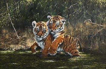 Steve Burgess, Lion Cubs at Morgan O'Driscoll Art Auctions