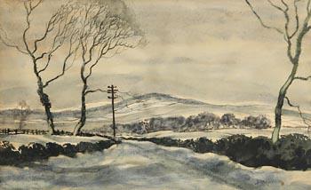 Basil Blackshaw, Near Home Snow, The Airport Road at Morgan O'Driscoll Art Auctions
