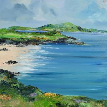 David Gordon Hughes, Summertime, Portsalon at Morgan O'Driscoll Art Auctions
