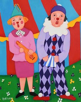 Annie Robinson, The Singing Clowns at Morgan O'Driscoll Art Auctions