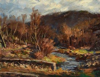 Fergus O'Ryan, Woodland Stream at Morgan O'Driscoll Art Auctions