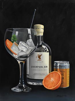 Peter Kotka, Liverpool Gin with Orange and Mint at Morgan O'Driscoll Art Auctions