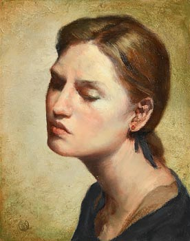 Ken Hamilton, Lady in Blue at Morgan O'Driscoll Art Auctions