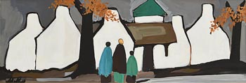 Markey Robinson, Shawlies Returning to the Village at Morgan O'Driscoll Art Auctions