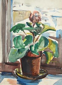 Norah Allison McGuinness, Still Life on Windowsill at Morgan O'Driscoll Art Auctions