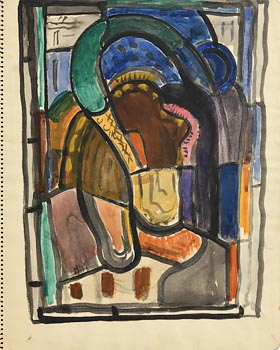Evie Hone, Abstract c.1932-33 at Morgan O'Driscoll Art Auctions