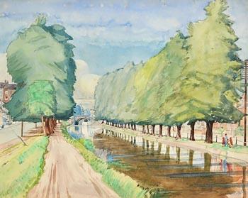 Harry Aaron Kernoff, Leeson Street Bridge (1931) at Morgan O'Driscoll Art Auctions