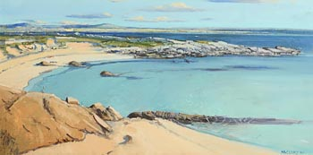 Cecil Maguire, Summer Afternoon, Gorteen, Roundstone (1984) at Morgan O'Driscoll Art Auctions