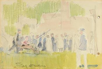Jack Butler Yeats, Tilting at the Ring at Morgan O'Driscoll Art Auctions