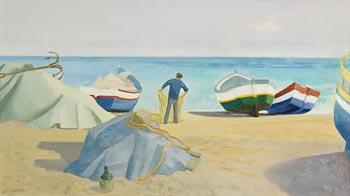 Barbara Warren, Burriana Beach, Nerja, Spain at Morgan O'Driscoll Art Auctions