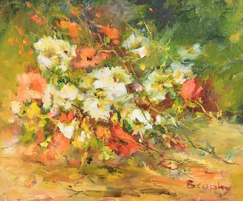 Elizabeth Brophy, Winter Flowers at Morgan O'Driscoll Art Auctions