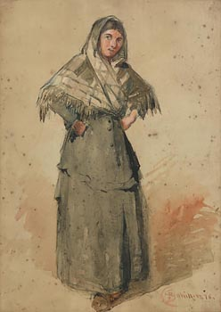 Richard Staunton Cahill, A Woman of the People (1876) at Morgan O'Driscoll Art Auctions