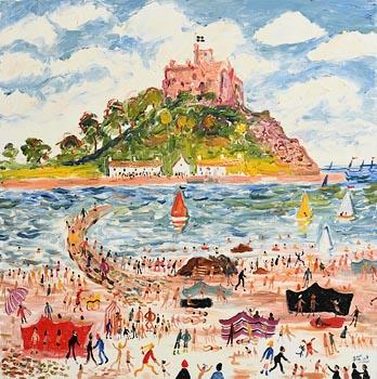 Simeon Stafford, St. Michaels Mount, Cornwall at Morgan O'Driscoll Art Auctions