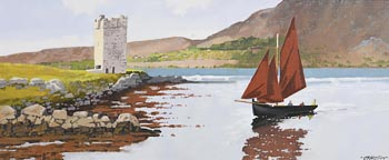 John Francis Skelton, Kildavnet Shore and Castle, Achill at Morgan O'Driscoll Art Auctions