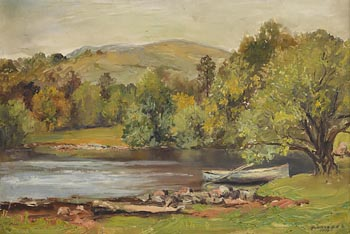 Rowland Hill, Riverscape (1936) at Morgan O'Driscoll Art Auctions