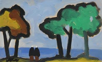 Markey Robinson, Shawlies on a Path to the Shore at Morgan O'Driscoll Art Auctions