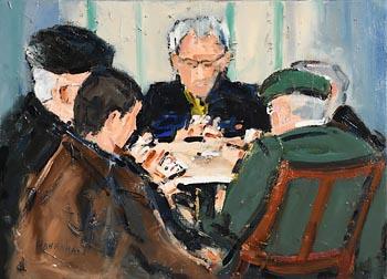 Michael Hanrahan, The Card Game at Morgan O'Driscoll Art Auctions