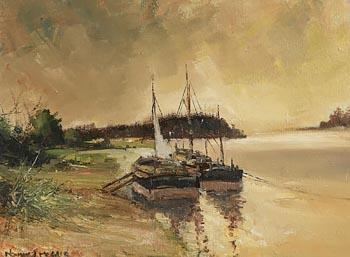 Norman J. McCaig, Boats, Lough Ree, Athlone at Morgan O'Driscoll Art Auctions