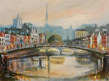 Niall Campion, Ha'Penny Bridge, Dublin at Morgan O'Driscoll Art Auctions