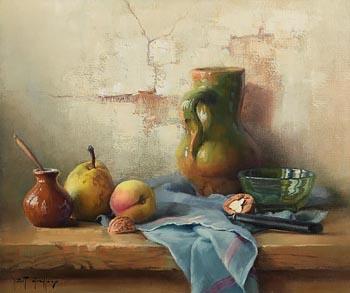 Robert Chailloux, Still Life on Tabletop at Morgan O'Driscoll Art Auctions