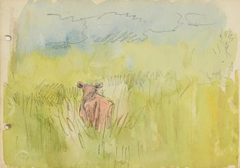 Jack Butler Yeats, In the Pasture at Morgan O'Driscoll Art Auctions
