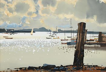 John Skelton, Harbour Scene, Howth at Morgan O'Driscoll Art Auctions