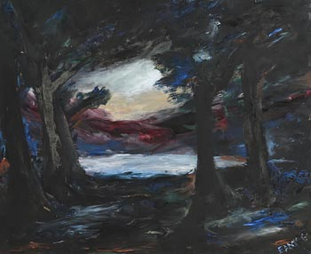 Senator Edward Augustine McGuire, Moonlit Wooded Landscape at Morgan O'Driscoll Art Auctions