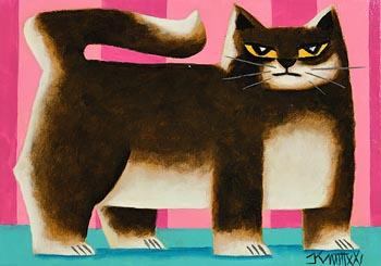 Graham Knuttel, Boss Cat at Morgan O'Driscoll Art Auctions