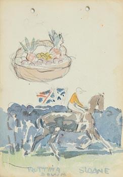 Jack Butler Yeats, Trotting Down at Morgan O'Driscoll Art Auctions