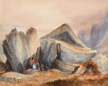 Andrew Nicholl, Kerry Castle, Glen of the Horse at Morgan O'Driscoll Art Auctions