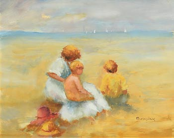 Elizabeth Brophy, Day at the Beach at Morgan O'Driscoll Art Auctions