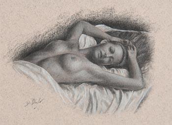Darren Baker, The Model at Morgan O'Driscoll Art Auctions