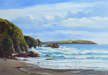 Annemarie Bourke, Towards Galley Head, West Cork at Morgan O'Driscoll Art Auctions