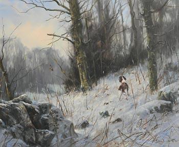 John Trickett, The Winter Hunt at Morgan O'Driscoll Art Auctions