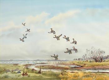 Robert W. Milliken, Mallards Landing in the Wetlands at Morgan O'Driscoll Art Auctions