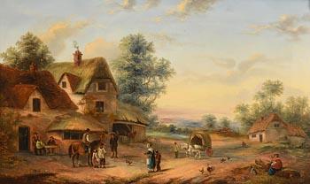 Georgina Lara, Farmyard Scene at Morgan O'Driscoll Art Auctions