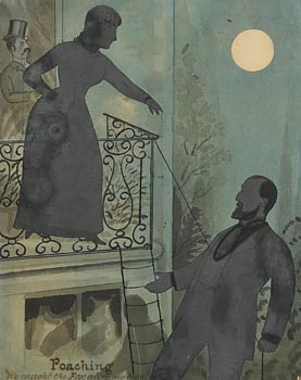Stephen O'Driscoll, Kitty O'Shea and Charles Stewart Parnell (silhouette) at Morgan O'Driscoll Art Auctions