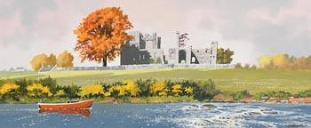 John Francis Skelton, Boyne Rapids, Bective Abbey at Morgan O'Driscoll Art Auctions