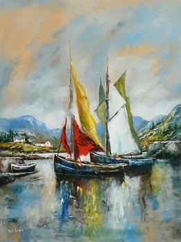 Niall Campion, Ballinakill Harbour, Connemara at Morgan O'Driscoll Art Auctions
