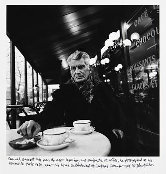 John Minihan, Samuel Beckett Photographed in Paris Cafe, December '95 at Morgan O'Driscoll Art Auctions