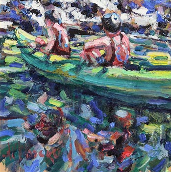 Arthur K. Maderson, Heading Down Stream at Morgan O'Driscoll Art Auctions