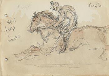 Jack Butler Yeats, Horse and Jockey at Morgan O'Driscoll Art Auctions