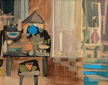 Arthur Armstrong, Still Life - Table and Door at Morgan O'Driscoll Art Auctions