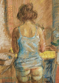 Ruskin Spear, Model at Wash Basin (1936) at Morgan O'Driscoll Art Auctions