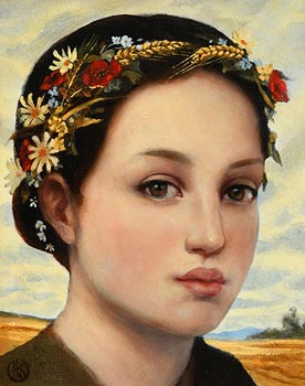 Ken Hamilton, Harvest Girl at Morgan O'Driscoll Art Auctions